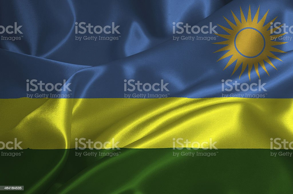 Rwanda flag stock photo