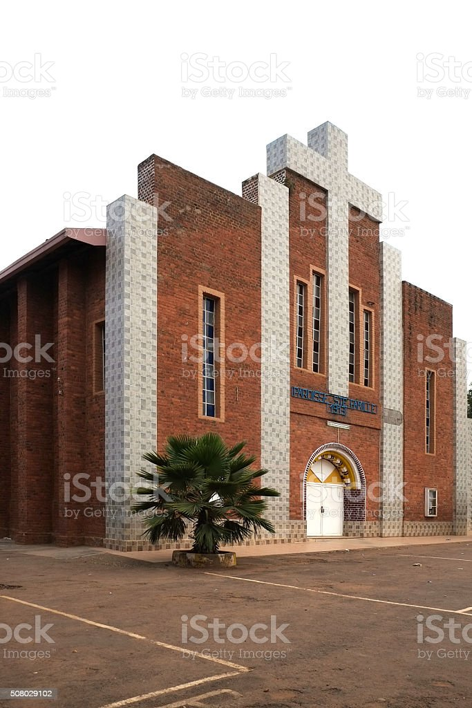 Rwanda: The Holy Family church of Kigali stock photo