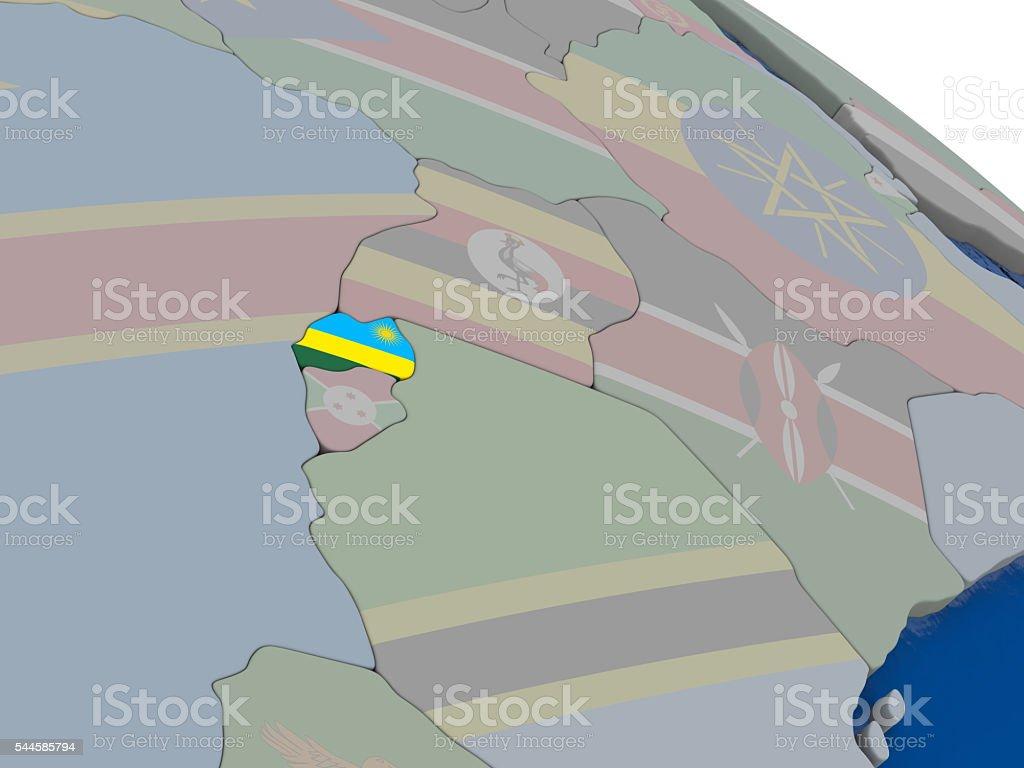 Rwanda with flag stock photo
