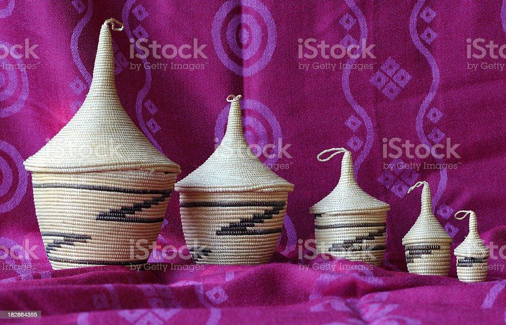 Rwandan handicraft stock photo