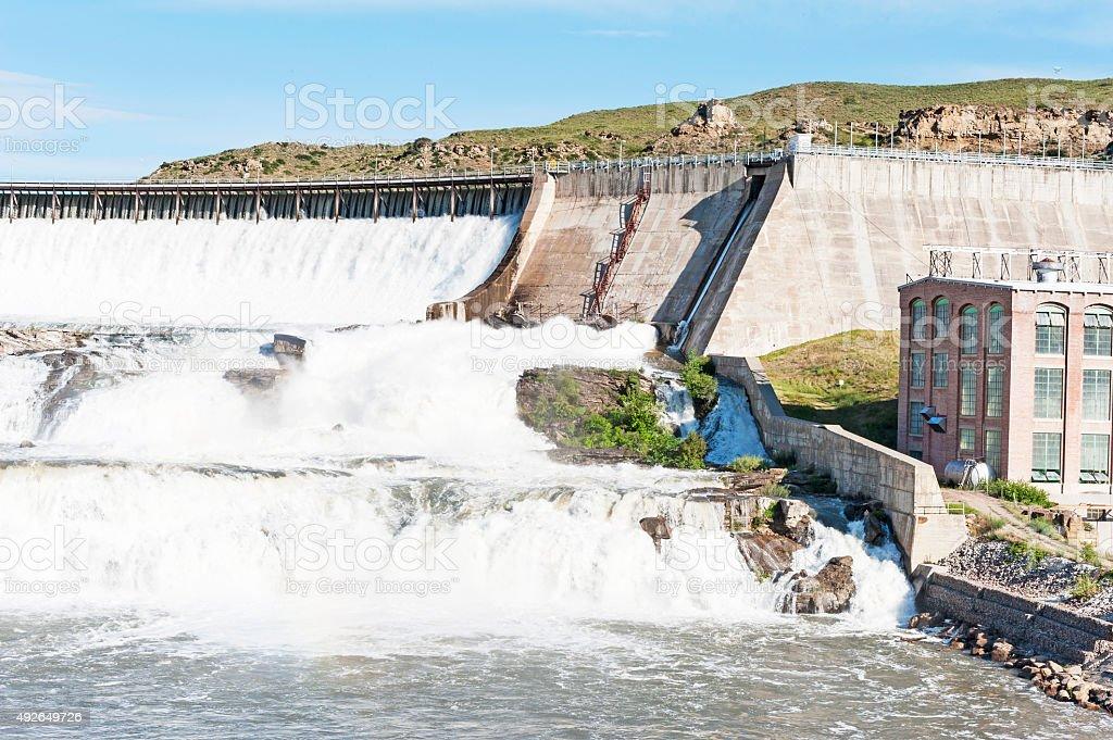 Ryan Dam Great Falls Montana Missouri River stock photo