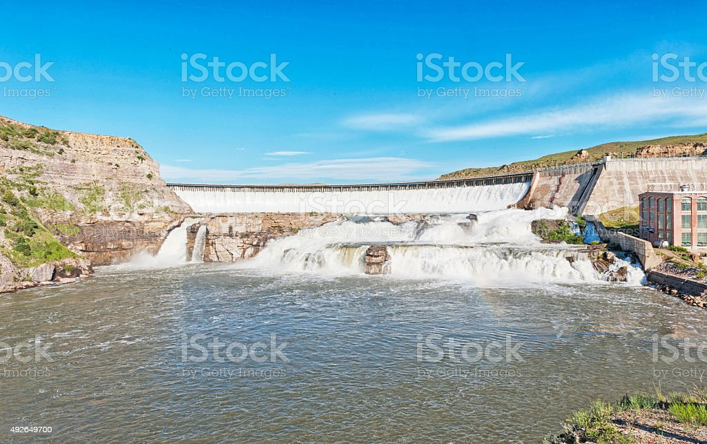 Ryan Dam Great Falls Montana stock photo