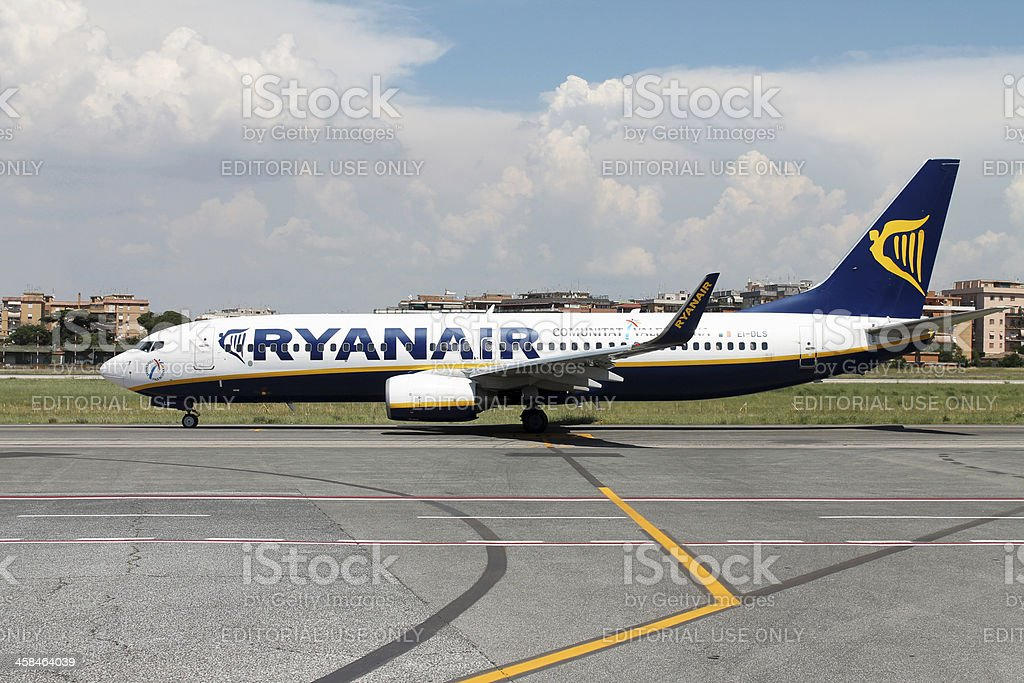 Ryanair airplane stock photo