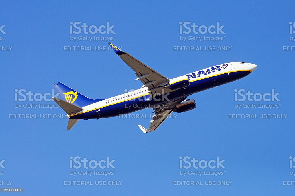 Ryanair Boeing 737-800 taking off. stock photo