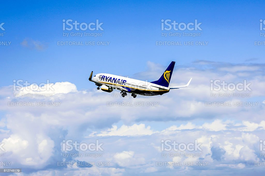 RyanAir Irish Budget Airlines Boeing 737-400 aircraft stock photo