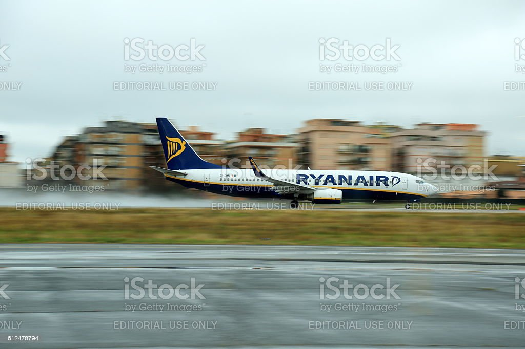Ryanair panning stock photo