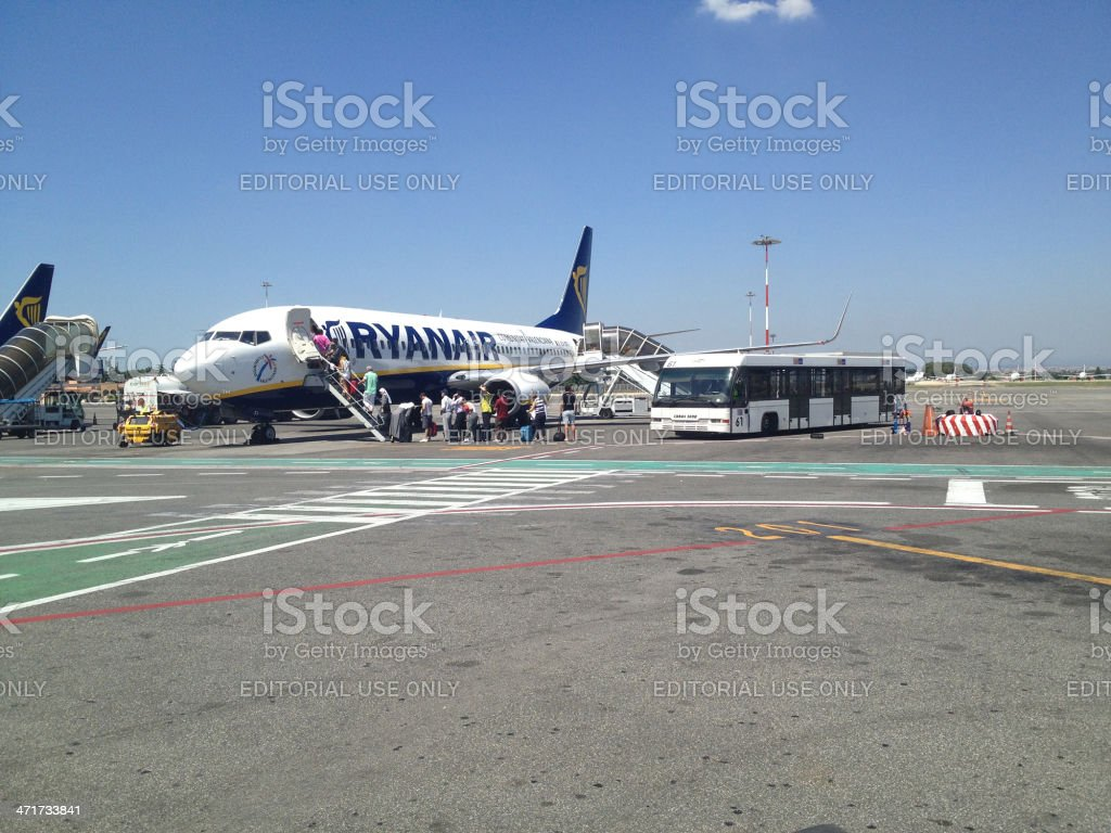 Ryanair Plane stock photo
