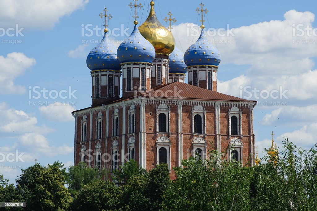 Ryazan Kremlin stock photo