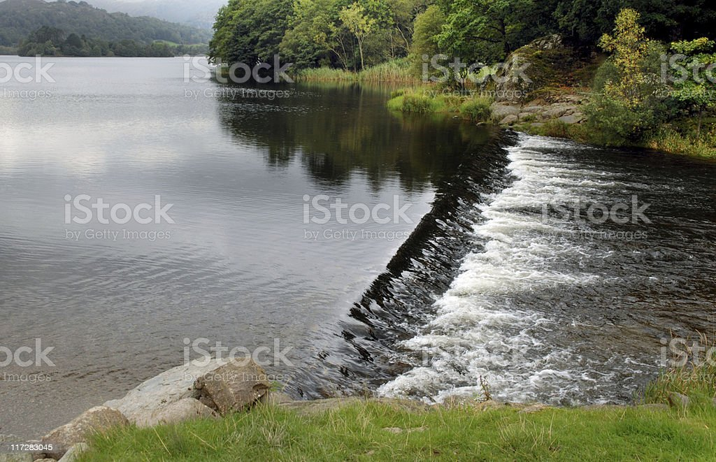 Rydal Water Weir stock photo