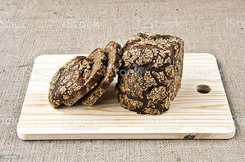 rye bread and cereals royalty-free stock photo