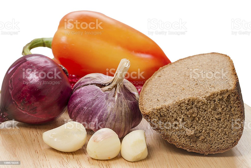 Rye bread and spices royalty-free stock photo