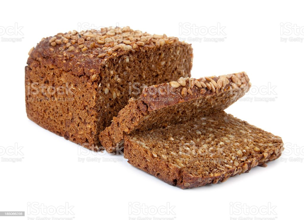 Rye bread on white background royalty-free stock photo