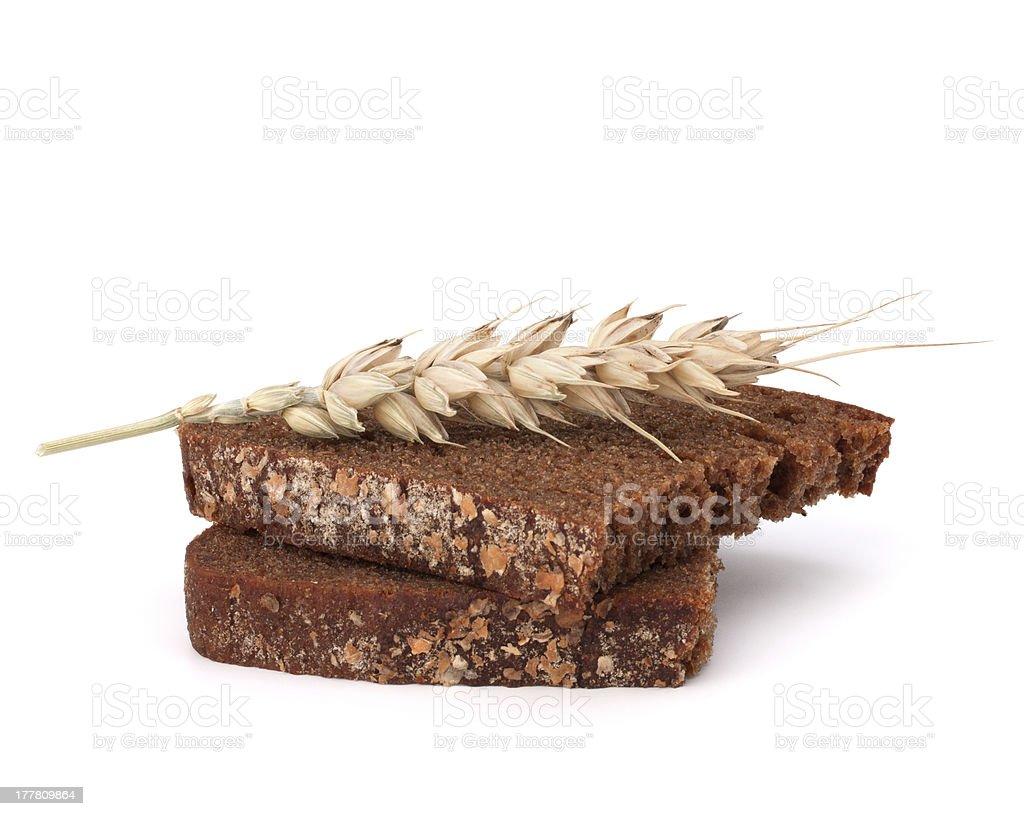 rye bread slice royalty-free stock photo
