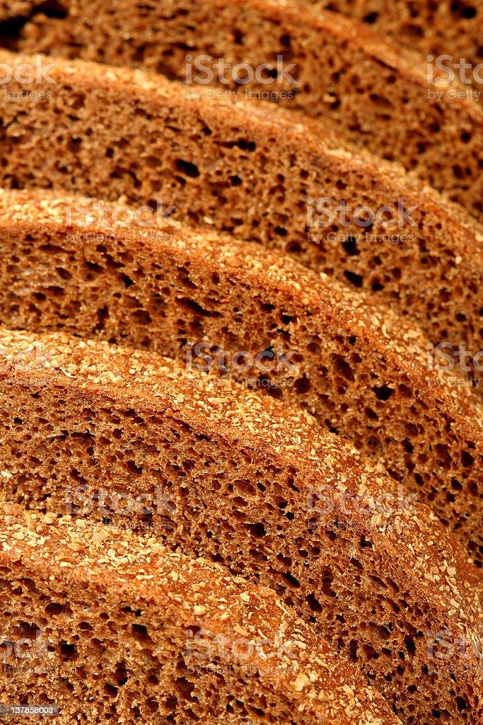 Rye bread sliced royalty-free stock photo