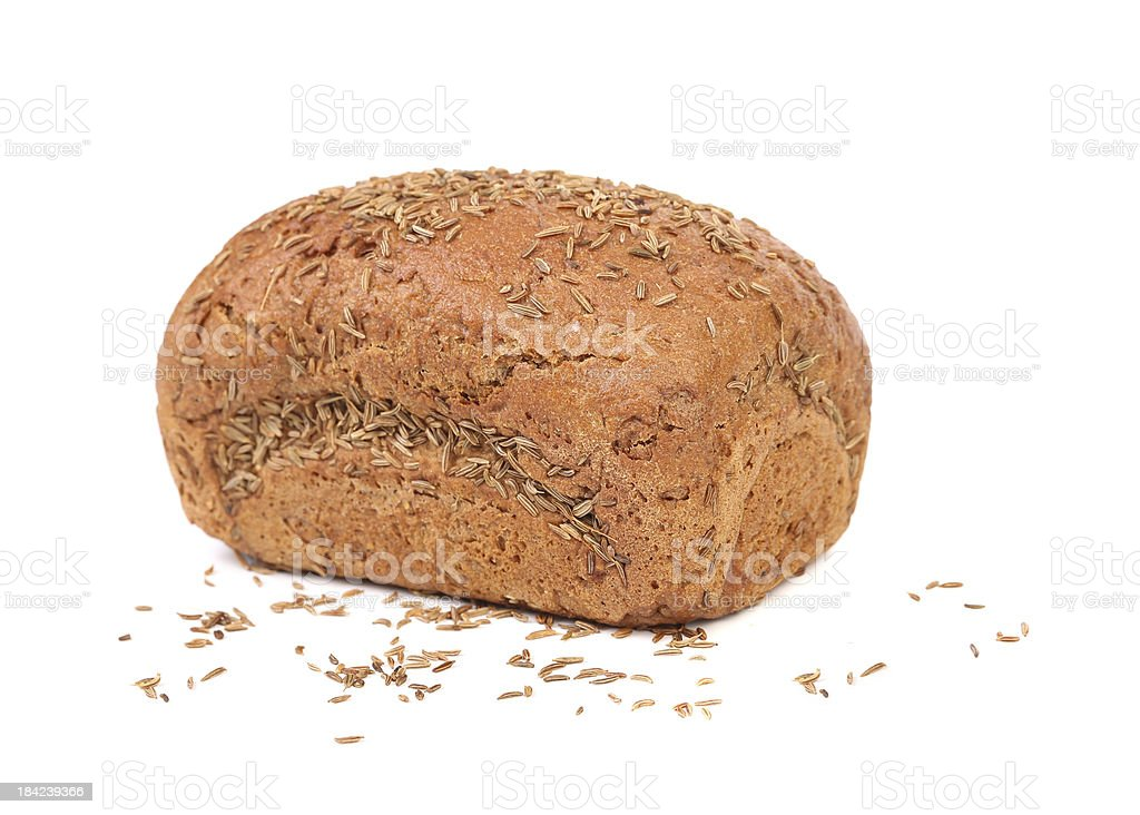 Rye bread with caraway seed. royalty-free stock photo