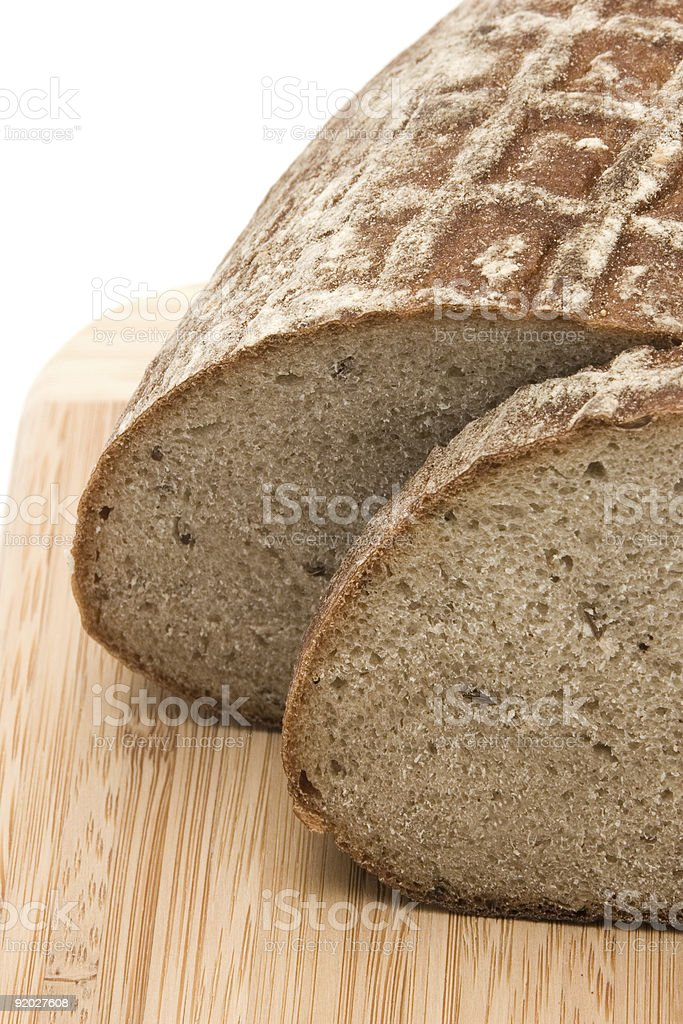 rye bread with caraway seeds royalty-free stock photo