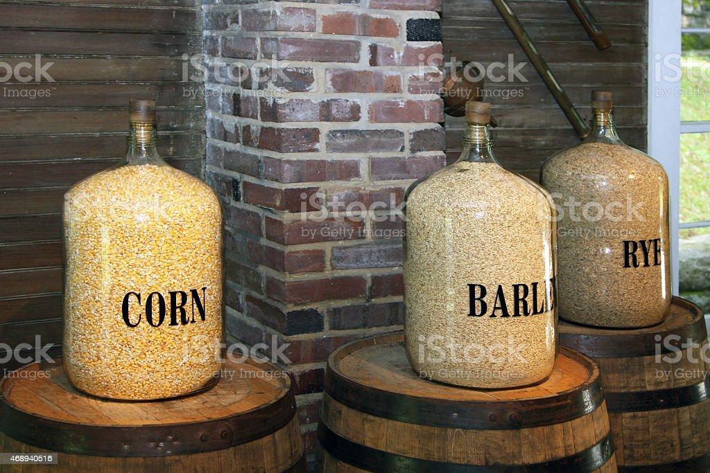 Rye, corn and barley stock photo