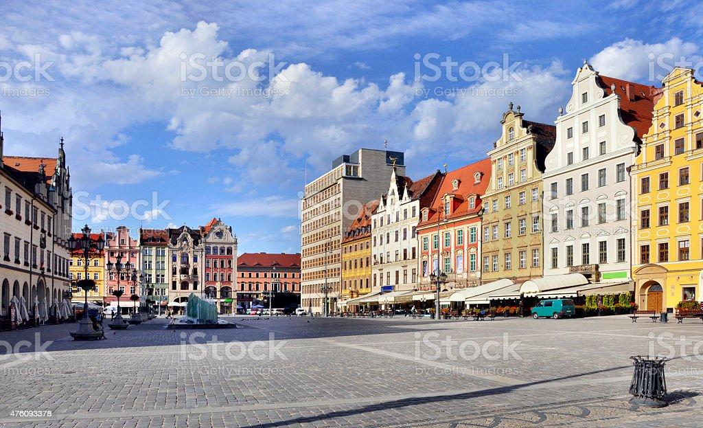 Rynek (Market Square) in Wroclaw, Poland stock photo