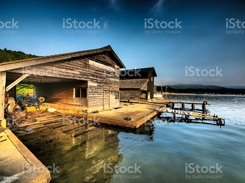 Ryotsu from Lake Kamo stock photo