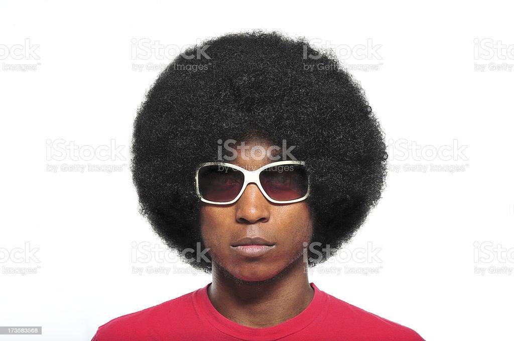 70's Afro stock photo