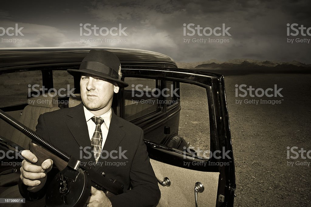 1920's and 1930's Gangster Look of Yesteryear. royalty-free stock photo
