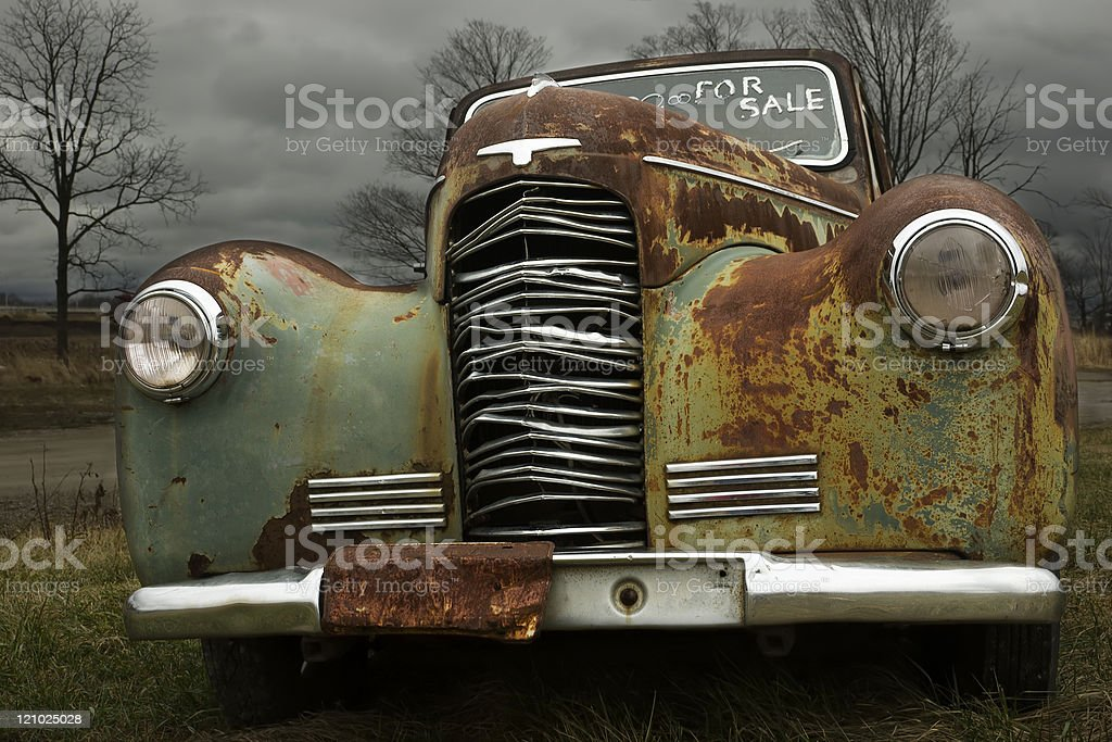 1930's Antique car royalty-free stock photo