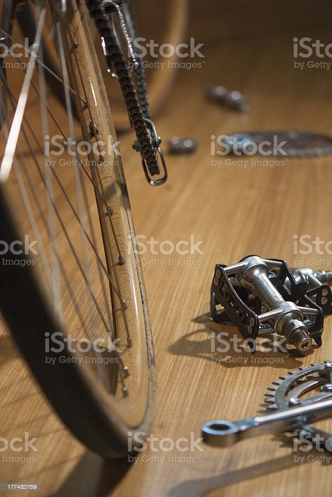 1960's Bike with wood wheels royalty-free stock photo
