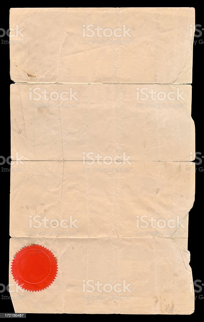 1800's blank paper royalty-free stock photo