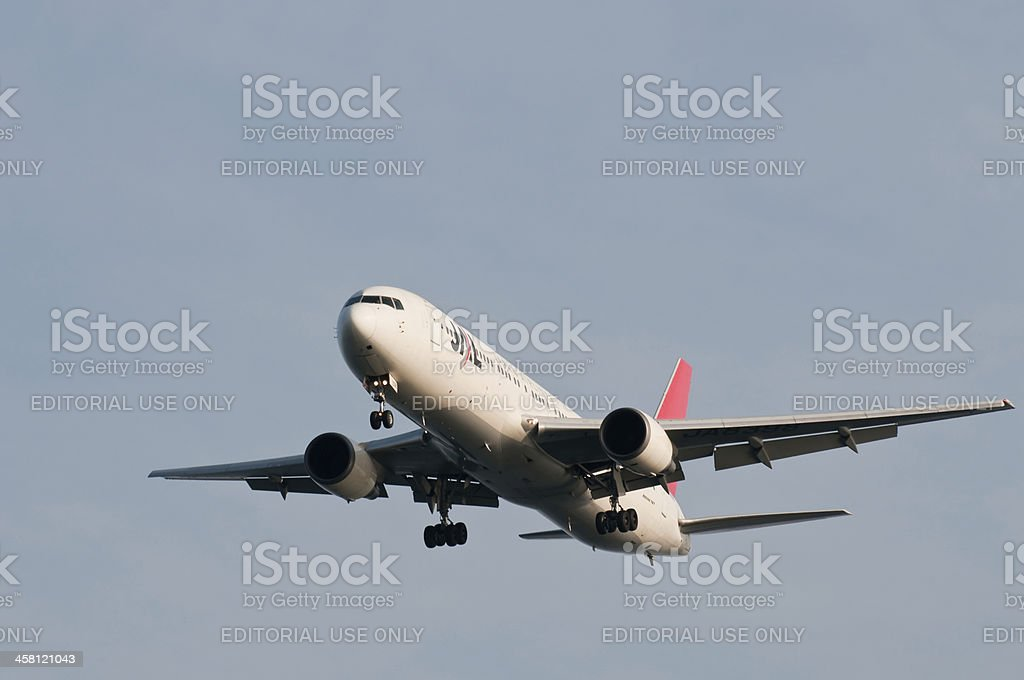 JAL's Boeing 767 royalty-free stock photo