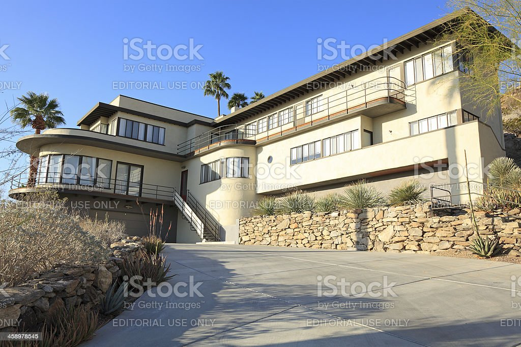 1930's California Moderne Architecture royalty-free stock photo