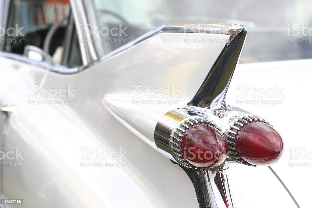 60's car wing stock photo