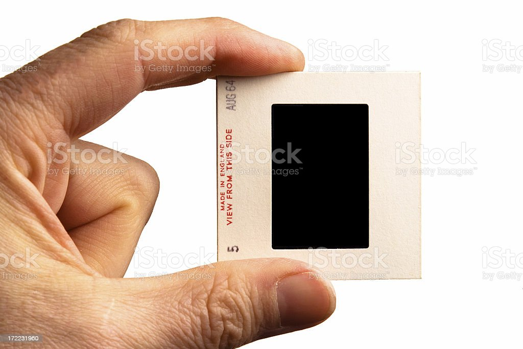 60's card mounted Kodachrome slide (vertical) stock photo