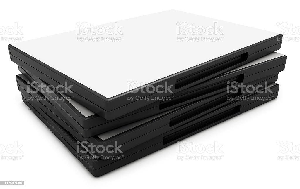 DVD's - Clipping Path stock photo