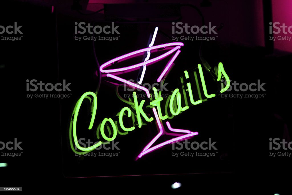 1950's Cocktails stock photo