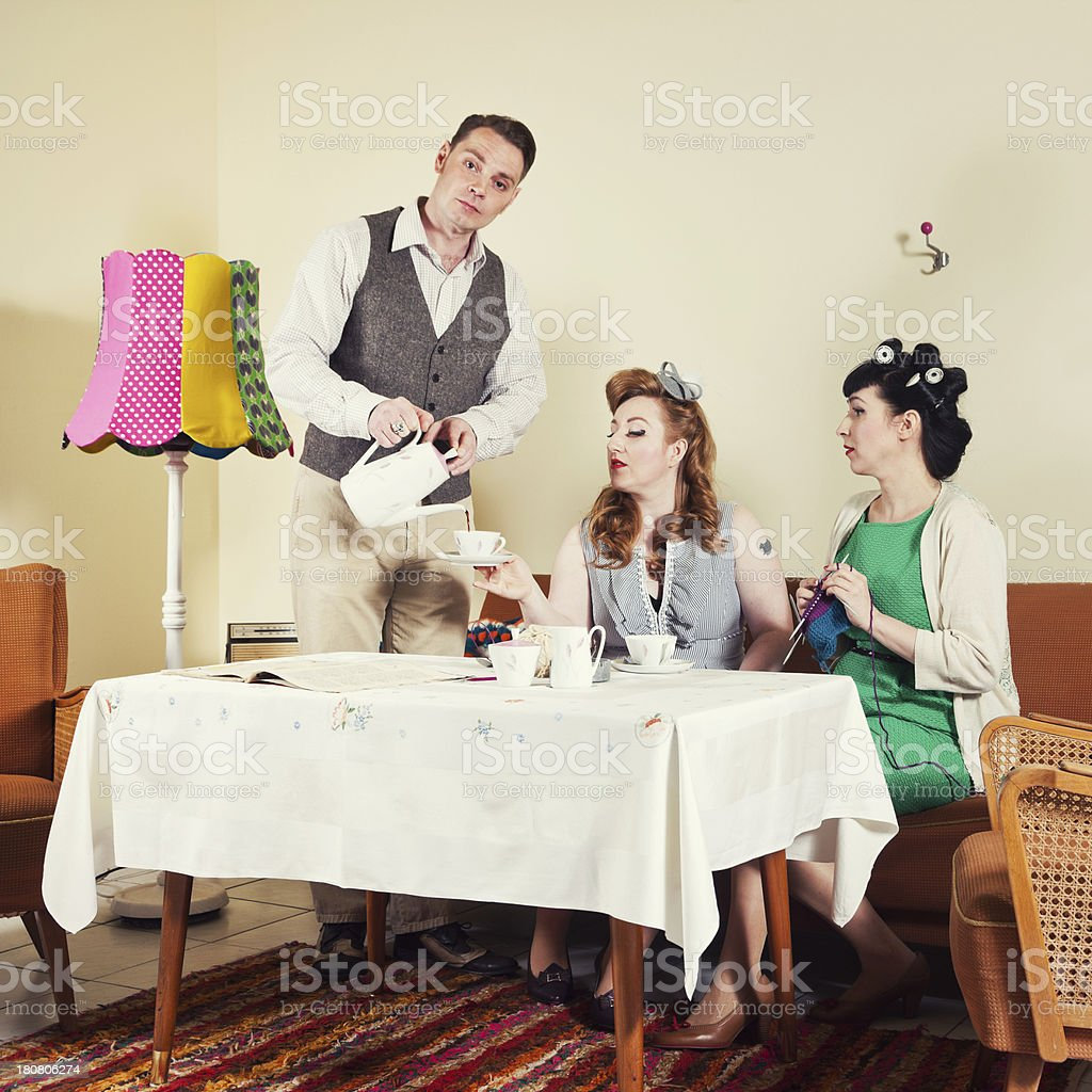 50's Couple and friend royalty-free stock photo