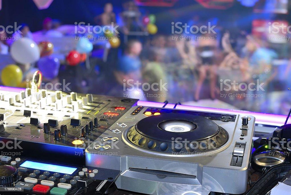 DJ's deck royalty-free stock photo