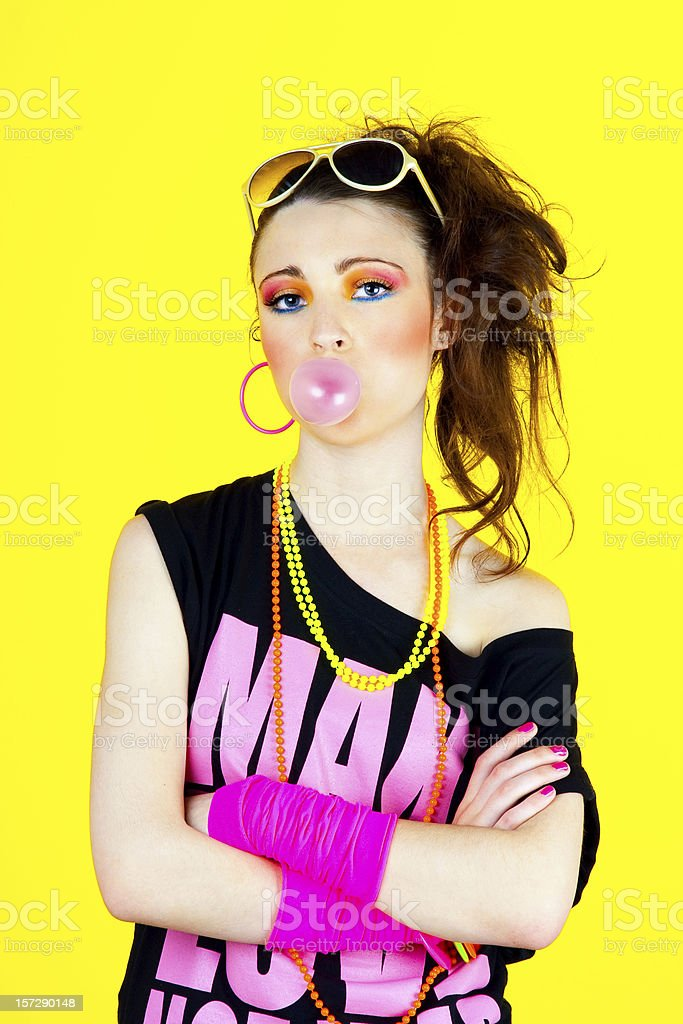 80's Disco Chick stock photo