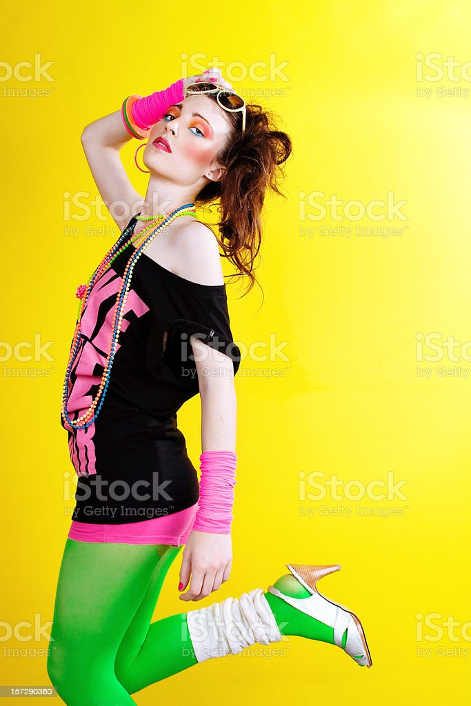 80's Disco Chick royalty-free stock photo