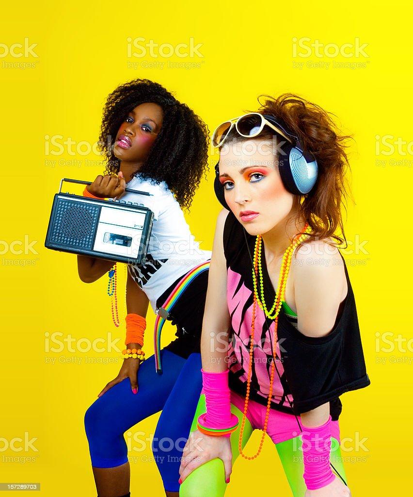 80's Disco Chicks stock photo