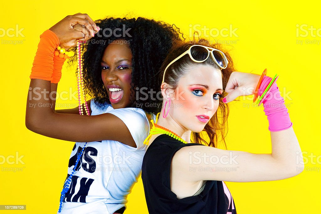 80's Disco Chicks stock photo