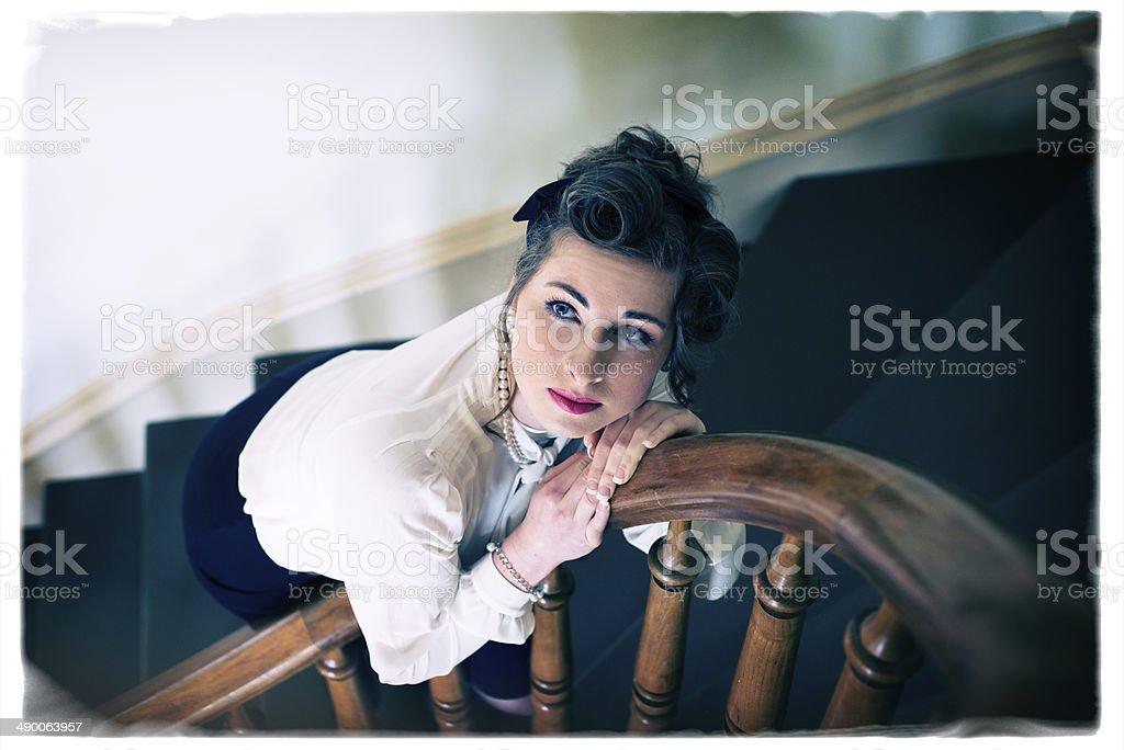 1940's Era Young Woman stock photo