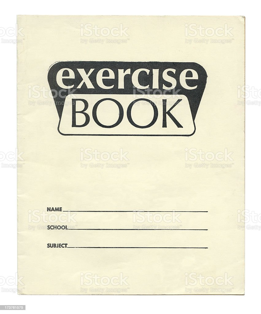 70's exercise book cover royalty-free stock photo