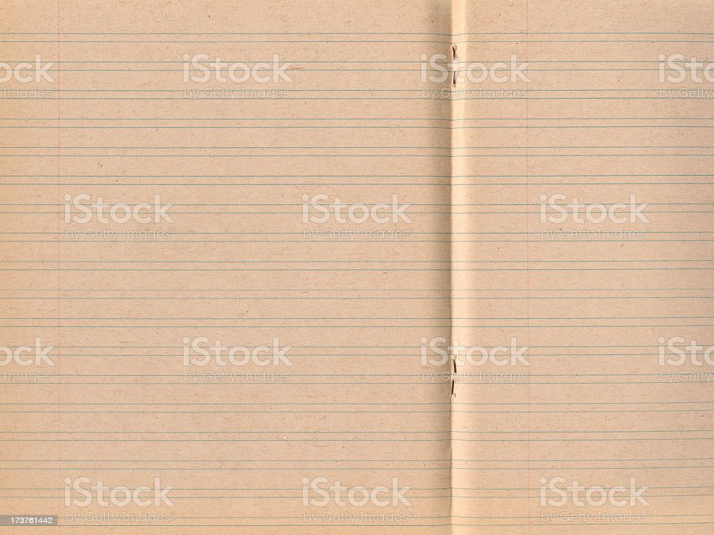 60's exercise book paper royalty-free stock photo
