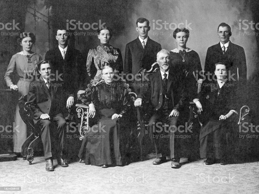 1900's Family stock photo