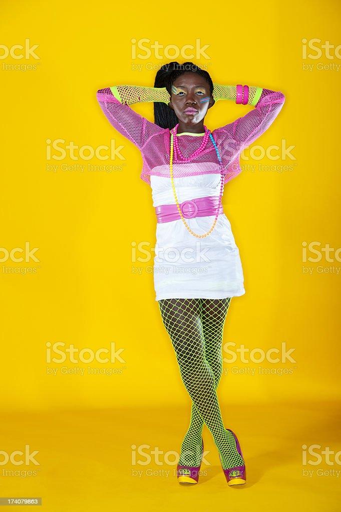 1980's Fashion Model royalty-free stock photo