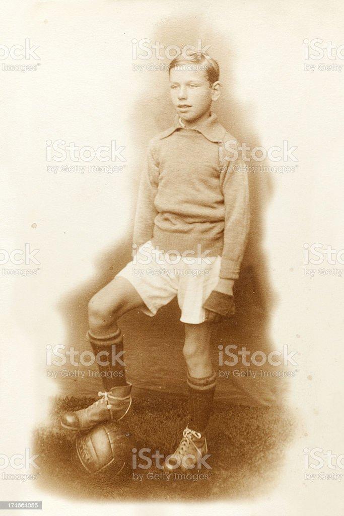 1920's Football Player Goalkeeper royalty-free stock photo