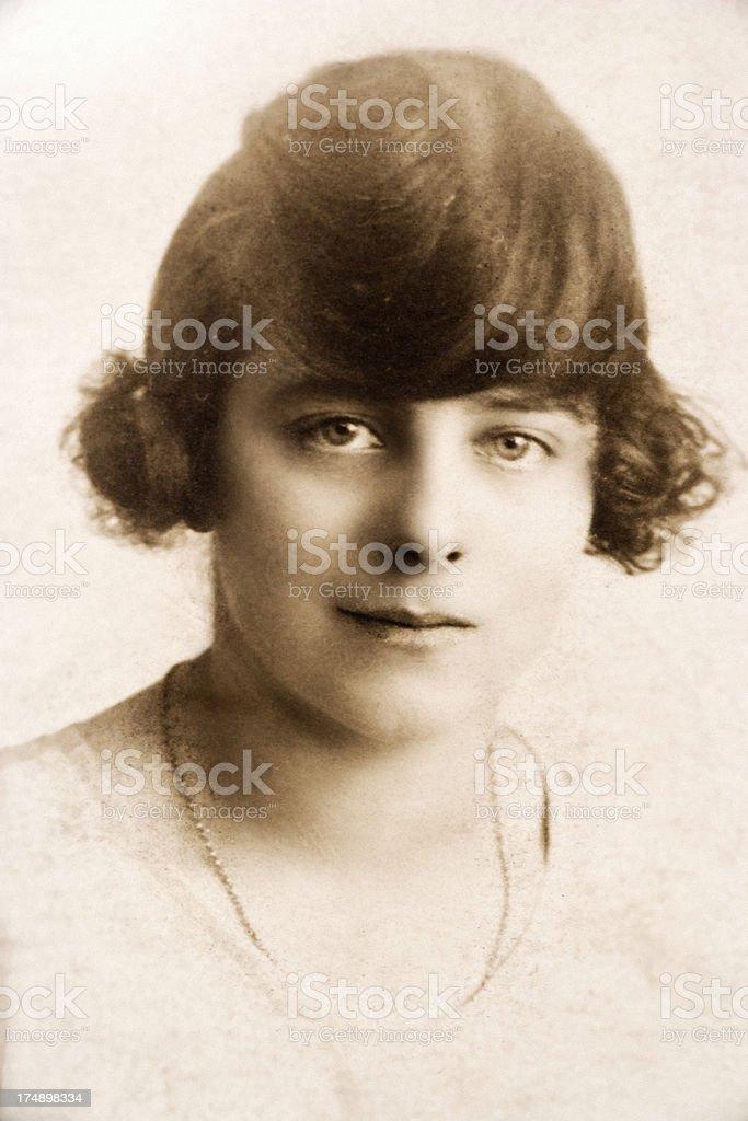 1920's Girl royalty-free stock photo