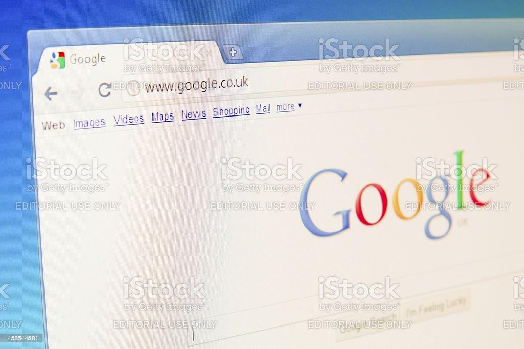 UK's Google Website royalty-free stock photo
