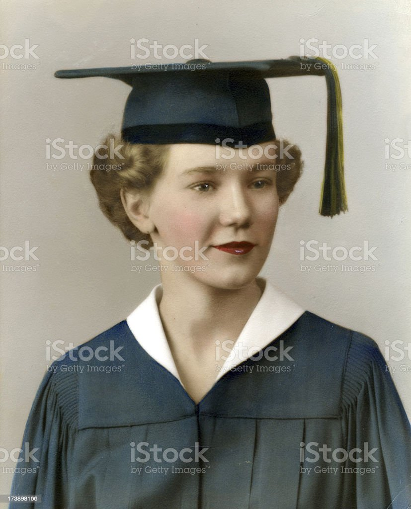 1950's graduate   View images from same session stock photo