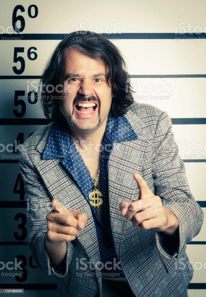 70's Guy Mugshot stock photo